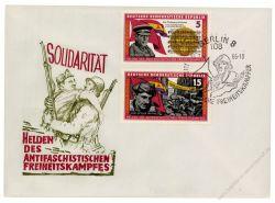 DDR 1966 FDC Mi-Nr. 1196-1201 SSt. Kämpfer der Internationalen Brigaden