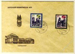 DDR 1971 FDC Mi-Nr. 1700-1701 ESt. Leipziger Herbstmesse