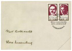 DDR 1971 FDC Mi-Nr. 1650-1651 (ZD) SSt. 100. Geburtstag von Rosa Luxemburg und Karl Liebknecht