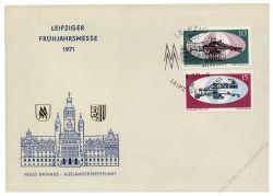 DDR 1971 FDC Mi-Nr. 1653-1654 SSt. Leipziger Frühjahrsmesse