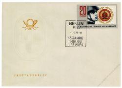DDR 1971 FDC Mi-Nr. 1652 SSt. 15 Jahre Nationale Volksarmee