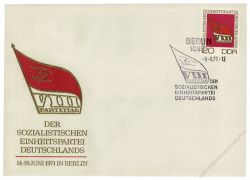 DDR 1971 FDC Mi-Nr. 1679 SSt. Parteitag der Sozialistischen Einheitspartei Deutschlands