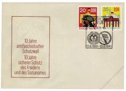 DDR 1971 FDC Mi-Nr. 1691-1692 SSt. 10 Jahre Berliner Mauer
