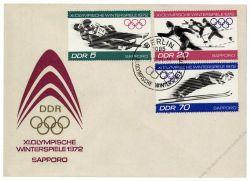 DDR 1971 FDC Mi-Nr. 1725-1730 SSt. Olympische Winterspiele 1972