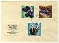 DDR 1972 FDC Mi-Nr. 1737-1742 ESt. Minerale aus den Sammlungen der Bergakademie Freiberg