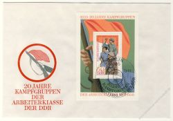 DDR 1973 FDC Mi-Nr. 1876 (Block 39) SSt. 20 Jahre Kampfgruppen