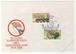 DDR 1973 FDC Mi-Nr. 1874-1875 SSt. 20 Jahre Kampfgruppen