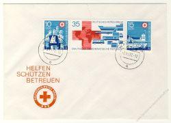 DDR 1972 FDC Mi-Nr. 1789-1791 (ZD) ESt. Deutsches Rotes Kreuz der DDR