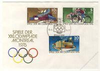 DDR 1976 FDC Mi-Nr. 2126-2131 SSt. Olympische Sommerspiele