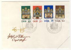 DDR 1976 FDC Mi-Nr. 2111-2114 SSt. Silbermann-Orgeln