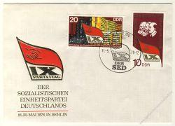 DDR 1976 FDC Mi-Nr. 2123-2124 SSt. Parteitag der Sozialistischen Einheitspartei Deutschlands