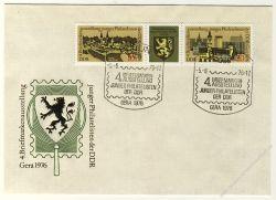 DDR 1976 FDC Mi-Nr. 2153-2154 (ZD) SSt. Briefmarkenausstellung junger Philatelisten der DDR