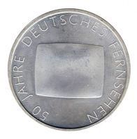 BRD 2002 J.496 10 Euro 50 Jahre Deutsches Fernsehen st
