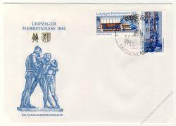 DDR 1981 FDC Mi-Nr. 2634-2635 SSt. Leipziger Herbstmesse