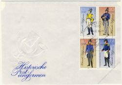 DDR 1986 FDC Mi-Nr. 2997II-3000II (ZD) SSt. Historische Postuniformen